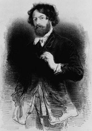 Auto-portrait de Paul Gavarni 1842, Bibliothèque du Congrès, Washington, Etats-Unis