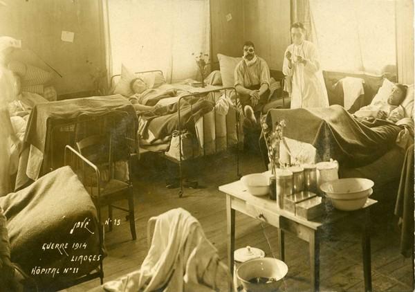L'Hôpital militaire n° 11 à Limoges, archive privée.