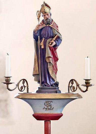Bâton de procession : saint Eloi ; Chapelle Saint-Eloi ; Trouhaut, Côte d'Or, Bourgogne. Photographie de Thierry Kuntz.