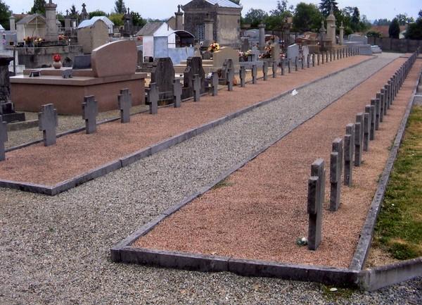 Photo de certaines tombes allemandes. Collection privée