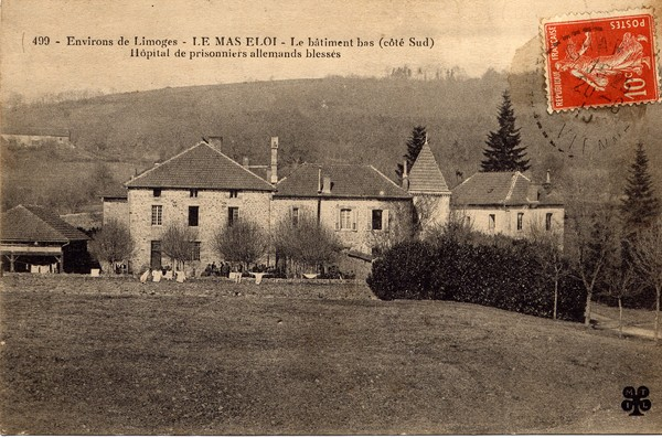 Mas-Eloi Hôpital de prisonniers allemands blessés. CPA collection privée.