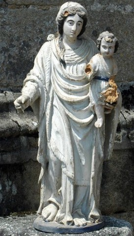 Statuette de la Vierge. Photo DRAC Limousin